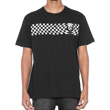 Camiseta Volcom Silk Check Two Preta