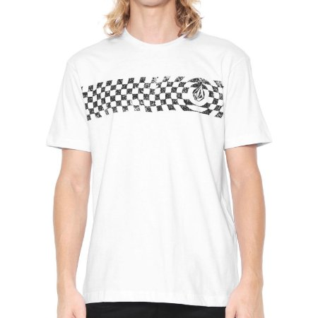 Camiseta Volcom Silk Check Two Branca