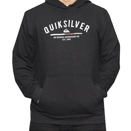 Moletom Quiksilver Simple Colour Preto