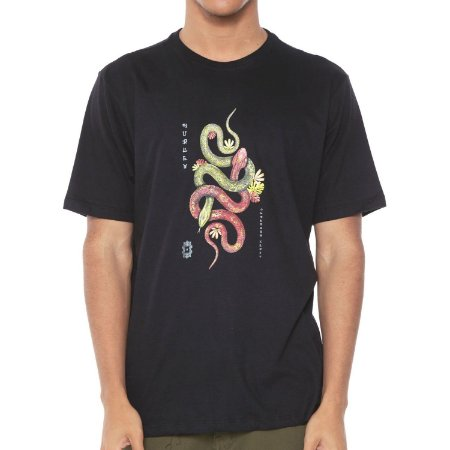 Camiseta Hurley Silk Tred Light Preta