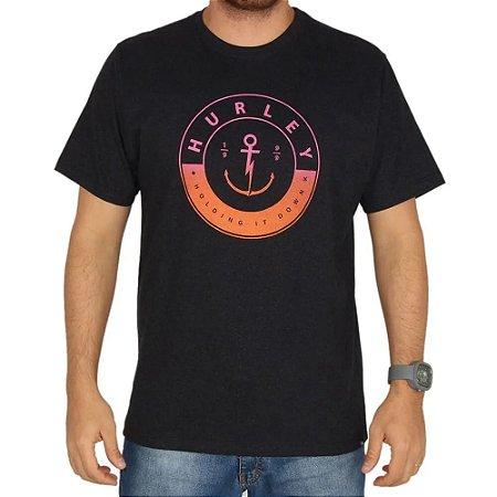 Camiseta Hurley Silk Hold Down Preta