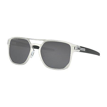 Óculos de Sol Oakley Latch Alpha Matte Silver W/ Prizm Black Polarized