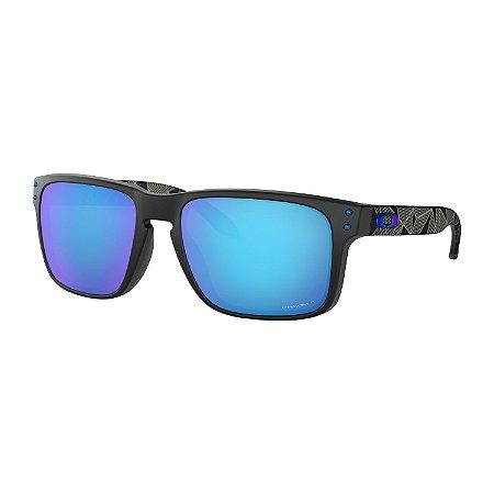 Óculos de Sol Oakley Holbrook Matte Black Prizmatic W/ Prizm Sapphire Polarized