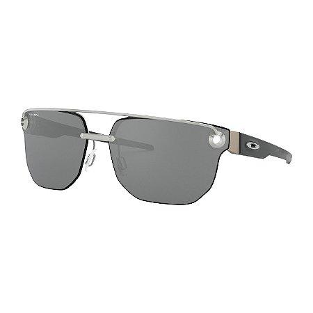 Óculos de Sol Oakley Chrystl Satin Chrome W/ Prizm Black