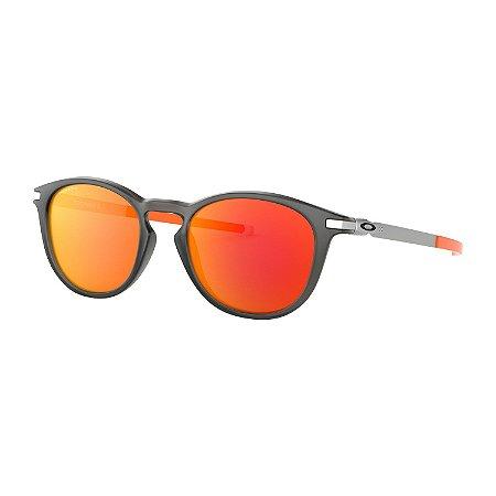 Óculos de Sol Oakley Pitchman R Matte Grey Smoke W/ Prizm Ruby