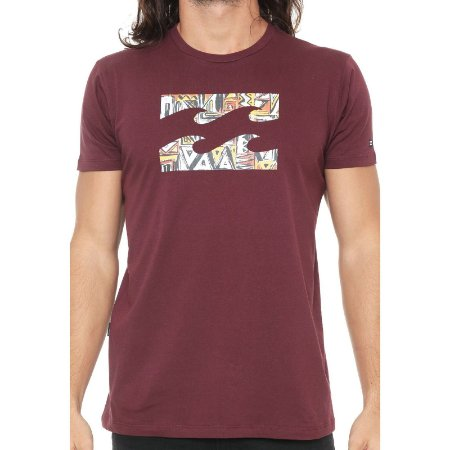 Camiseta Billabong Access Border IV Vinho