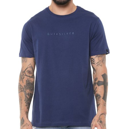 Camiseta Quiksilver Basic Embroidery Azul Marinho