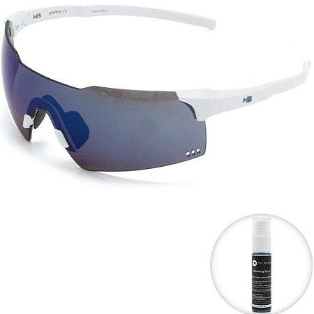 Óculos de Sol HB Quad V Pearled White l Blue Chrome