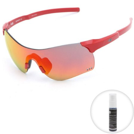 Óculos de Sol HB Quad F Fire Red l Chrome
