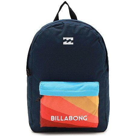 Mochila Billabong All Day Logo Azul/Laranja