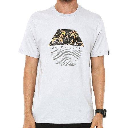 Camiseta Quiksilver Bamboo Breakfast Cinza