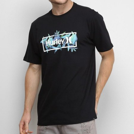 Camiseta Hurley Silk Brotanical Preta