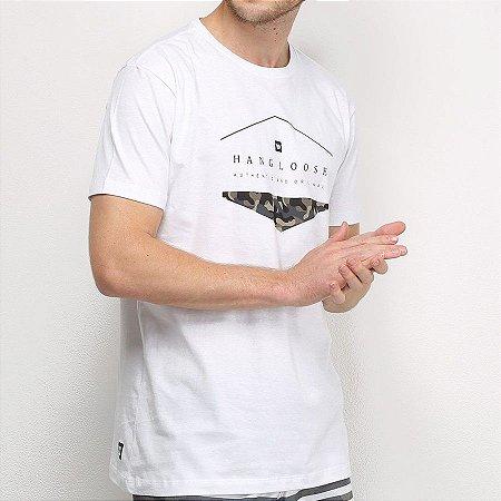 Camiseta Hang Loose Silk Camo Branca