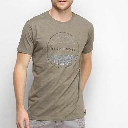 Camiseta Hang Loose Silk Stamp Verde Escuro