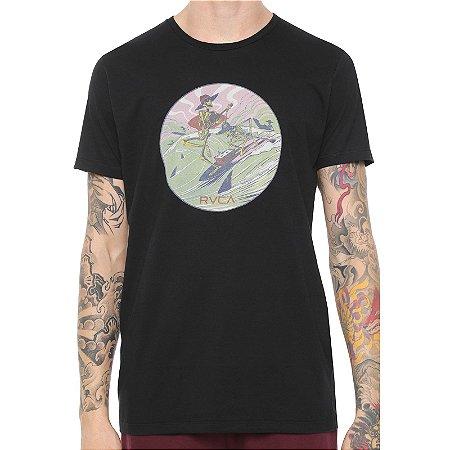 Camiseta RVCA Surf Twins Preta