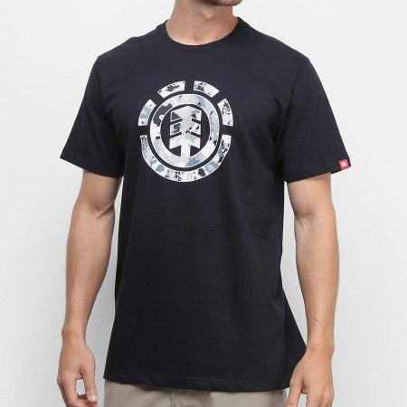 Camiseta Element Multi Icon Preta