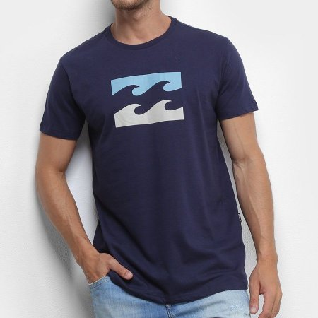 Camiseta Billabong Team Wave Azul Marinho