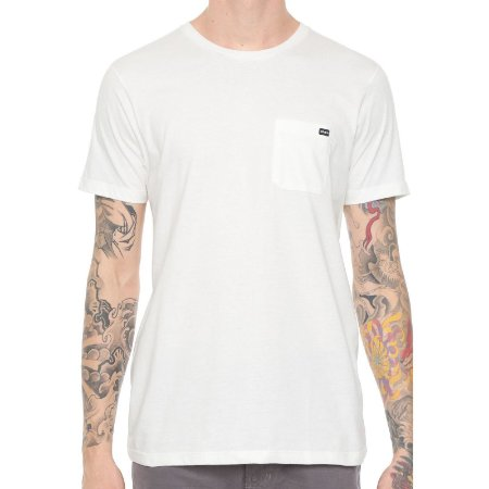 Camiseta RVCA Basic Pocket Off White