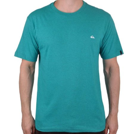 Camiseta Quiksilver Chest Embroidery Color Verde Mescla