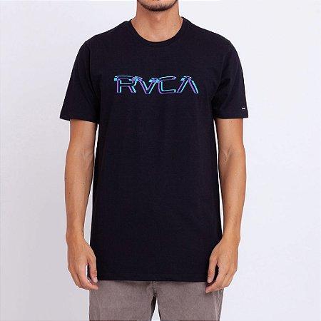 Camiseta RVCA Big Glitch Preta