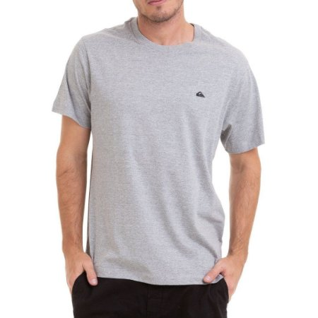 Camiseta Quiksilver Chest Embroidery Cinza