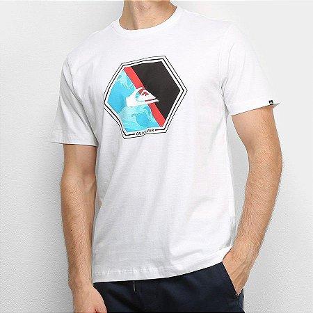 Camiseta Quiksilver Hexa Branca