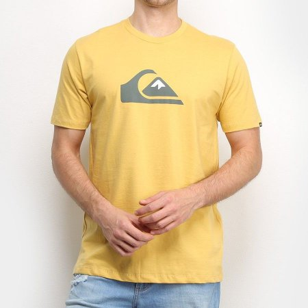 Camiseta Quiksilver Comp Logo Color Amarela