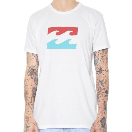 Camiseta Billabong Team Wave Branca