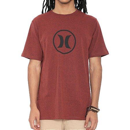 Camiseta Hurley Silk Circle Icon Vermelho Mescla
