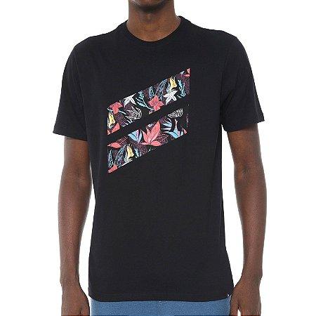Camiseta Hurley Silk Icon Slash Preta