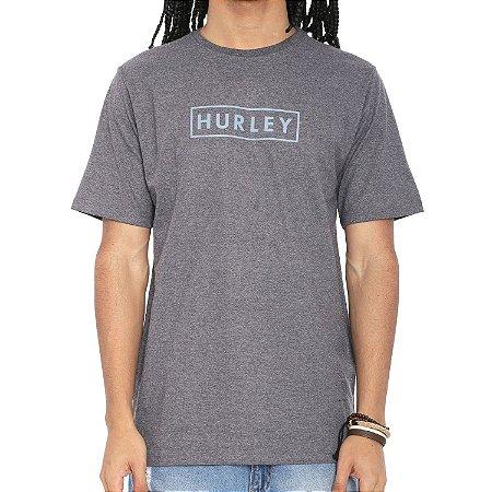 Camiseta Hurley Silk Boxed Benzo Cinza