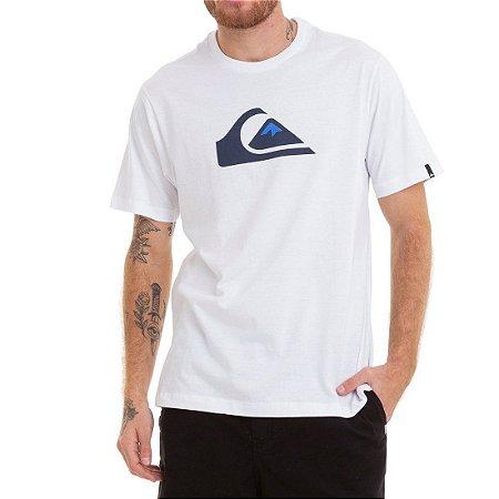 Camiseta Quiksilver Comp Logo Branca