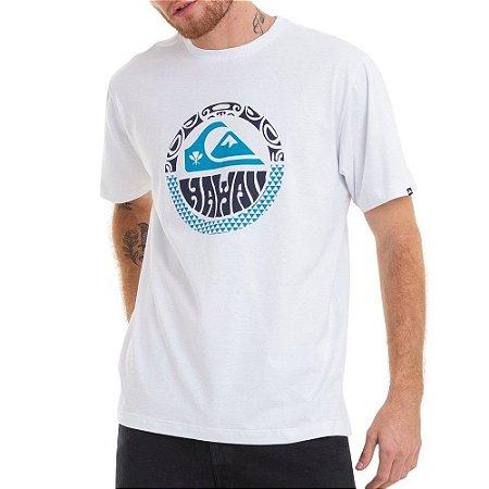 Camiseta Quiksilver Hawaii Style Branca
