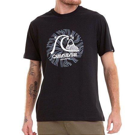 Camiseta Quiksilver Custom Print Preta