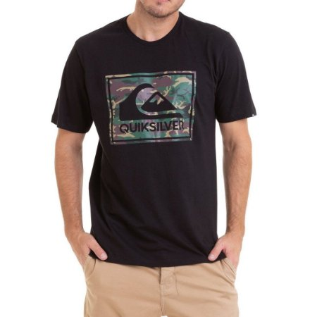Camiseta Quiksilver Camo Architexture Preta