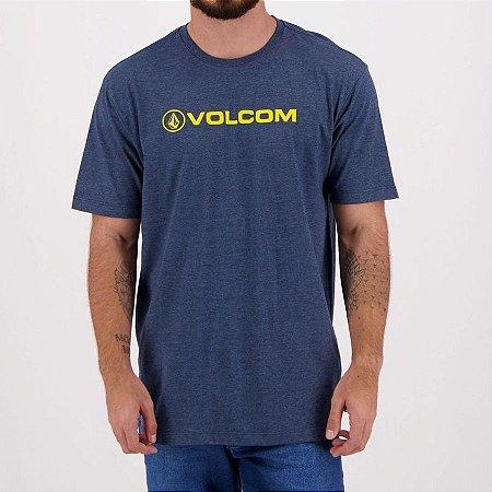 Camiseta Volcom Silk Crisp Euro Azul Mescla