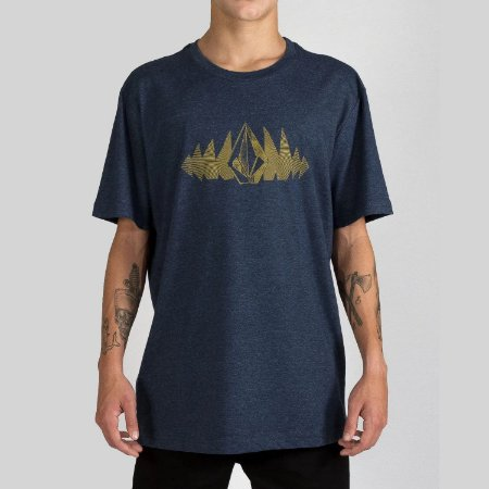 Camiseta Volcom Silk Phase Too Azul Mescla