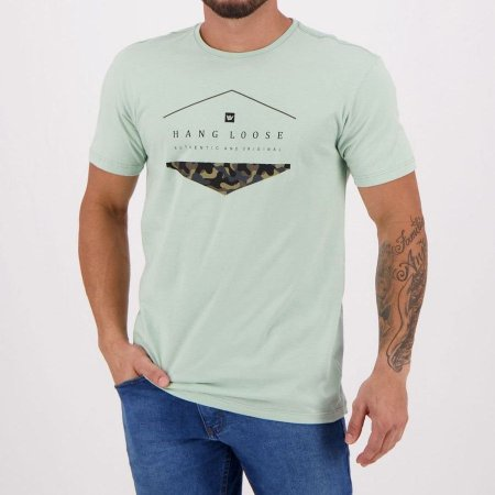 Camiseta Hang Loose Silk Camo Verde Claro