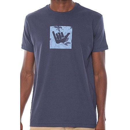 Camiseta Hang Loose Silk Monstera Azul Marinho