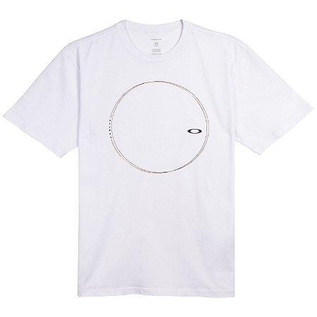 Camiseta Oakley Spining Geometric Branca