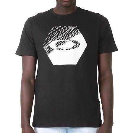 Camiseta Oakley Climb Block Preta