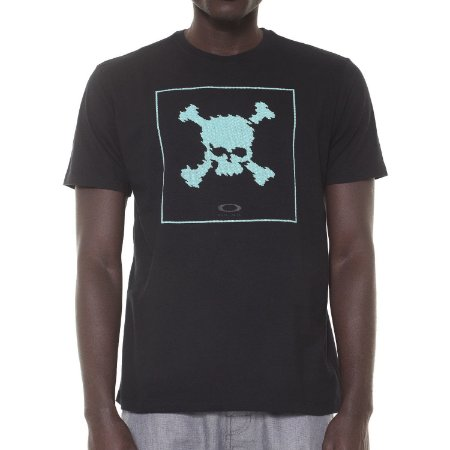 Camiseta Oakley Digi Skull Preta