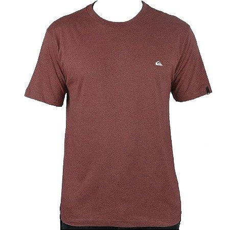 Camiseta Quiksilver Chest Embroidery Color Vermelho Mescla
