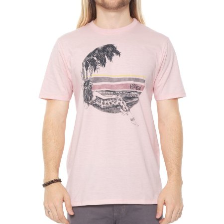 Camiseta Hurley Silk Lost In Bali Rosa