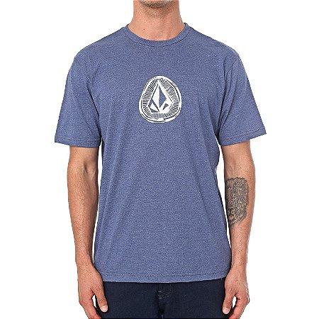 Camiseta Volcom Silk Sub Stone Azul Marinho