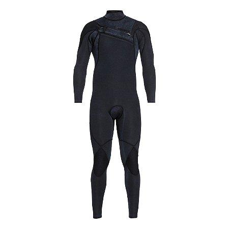 Wetsuit Long John Quiksilver 3/2mm Highline c/ Zíper no Peito Preto