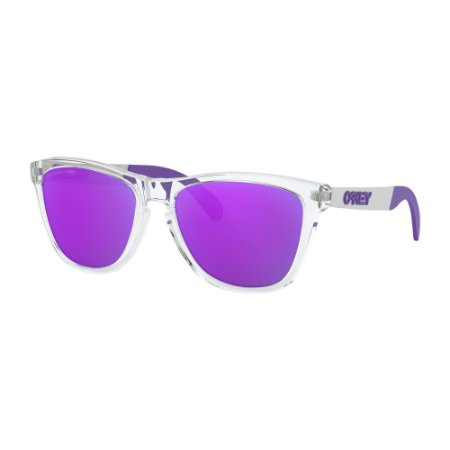 Óculos de Sol Oakley Frogskins Mix Polished Clear W/ Violet Iridium Polarized