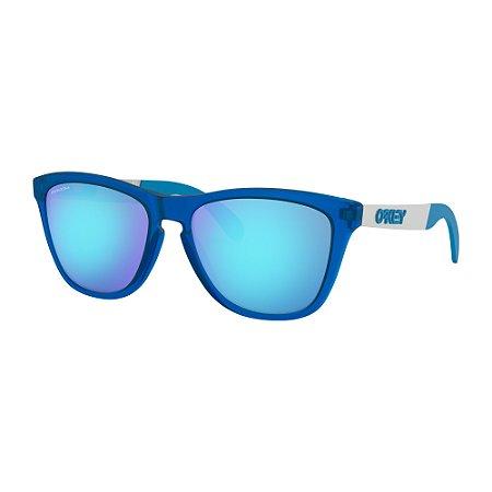 Óculos de Sol Oakley Frogskins Mix Matte Translucent Sapphire W/ Prizm Sapphire