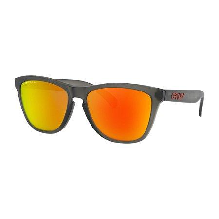 Óculos de Sol Oakley Frogskins Matte Grey Smoke W/ Prizm Ruby Polarized
