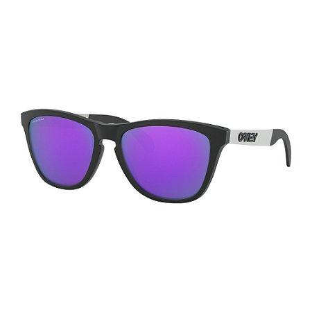 Óculos de Sol Oakley Frogskins Mix Matte Black W/ Prizm Violet